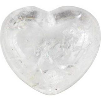 clear quartz heart, crystal heart, crystal quartz, stone heart, worry stone