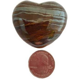 tiger eye heart, stone heart, worry stone, tiger eye, crystal