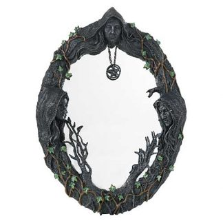 "Maiden, Mother, Crone Wall Mirror (17"")"