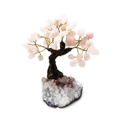 Large Rose Quartz Bonsai Tree