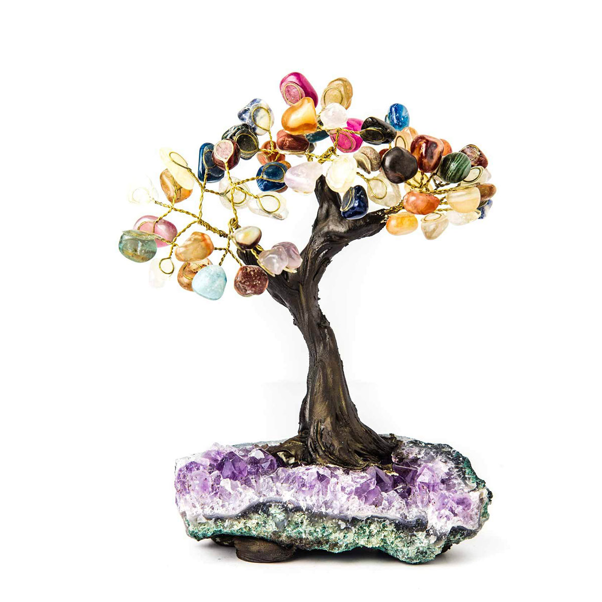 Multi-Gemstone & Amethyst Bonsai Tree