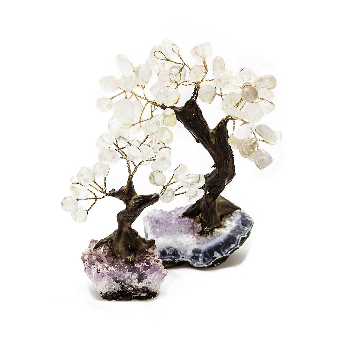 Small & Large Clear Quartz Bonsai Tree