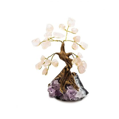 Small Rose Quartz Bonsai Tree