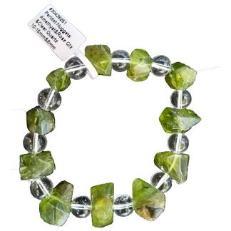 Faceted Peridot with Assorted Gemstones Bracelet