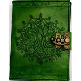 tree of life journal, green journal, green leather journal, journal