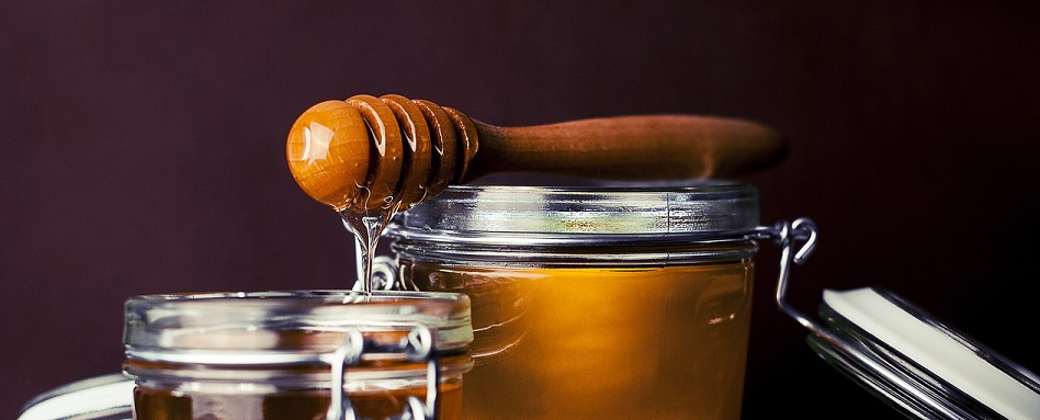 honey in a jar, honey dipper, magic