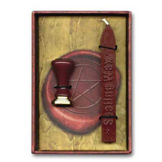 pentagram stamp seal, metal stamp seal, sealing wax, red sealing wax, pentagram seal
