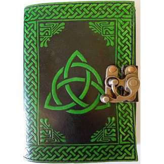 leather blank book, leather journal, triquetra journal, triquetra blank book