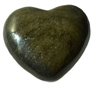 golden obsidian heart, stone heart, worry stone, obsidian, golden obsidian, gold sheen